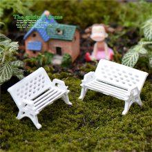 2Pcs White Chair For Bonsai Decoration