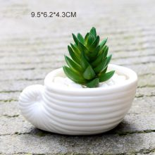 Mini White Small Flower Succulent Pot 6pcs