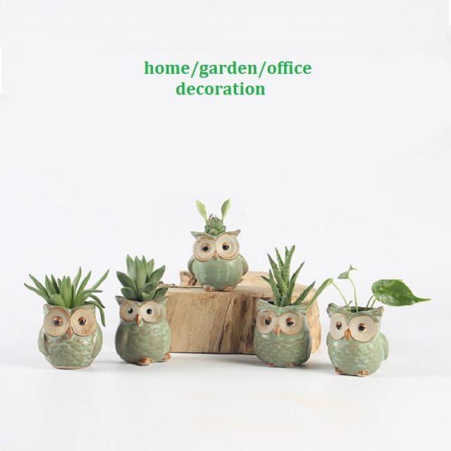 Cartoon Owl-shaped Succulent Flower Pot 5pc/set