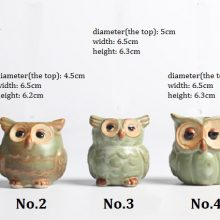 Cartoon Owl-shaped Succulent Flower Pot 5pc/set