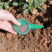 6.5*12.5cm Seed Sower 5 File Adjustable Planter Hand Held Flower Grass Plant Seeder Garden Multifunction Seeding Dispenser Tool